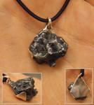 Meteorite iron pendant