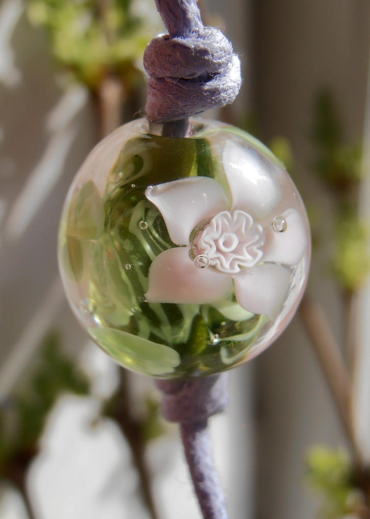 Spring blossom glass bead by fairyfrog
