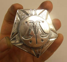 Auror class II badge - Ministry of Magic insignia by fairyfrog
