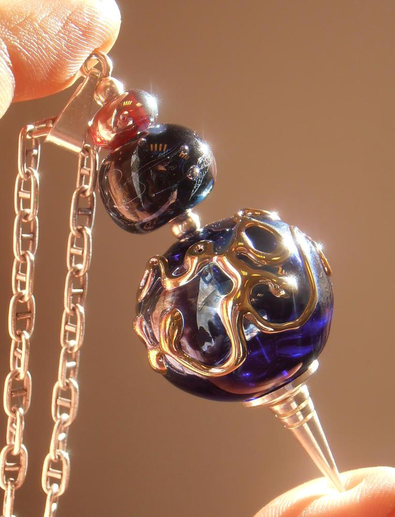 Golden Abyss Pendulum by fairyfrog