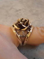 Rose ring with anchors by WeirdWondrous