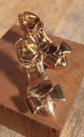 Gold Shoe Fetish Earrings by fairyfrog