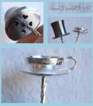 Silver Hairpins detail shot