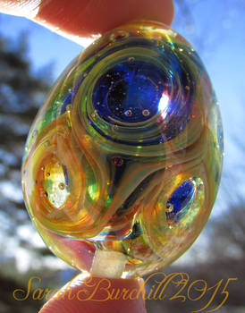 'I need a Little Space' lampwork Universe Egg