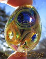 'I need a Little Space' lampwork Universe Egg by WeirdWondrous