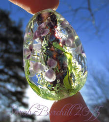 Flooded Gardens glass egg by WeirdWondrous