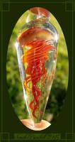 Jellyfish glass pendant