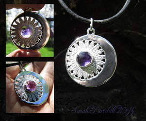 Daisy moon pendant by fairyfrog