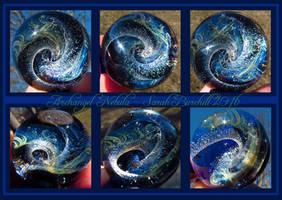 Archangel Nebula glass sphere pendant by WeirdWondrous