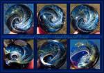 Archangel Nebula glass sphere pendant