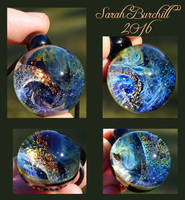 Wondrous World glass orb pendant by fairyfrog
