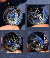 Smoke and Mirrors glass orb pendant by fairyfrog