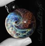 Fibonacci galaxy pendant