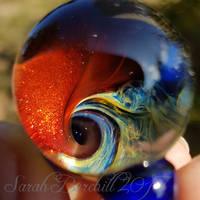 River of Loki - glass pendant by fairyfrog