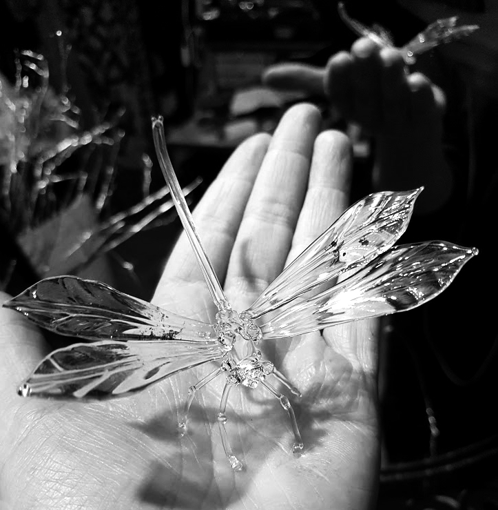 Dragonfly glass sculpture