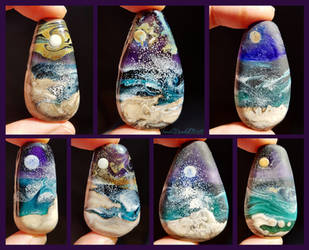Longing for the Sea glass pendants by WeirdWondrous