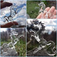 Tiny glass horse