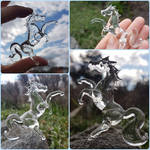 Tiny glass horse