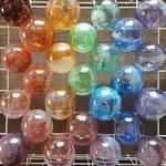 Glass baubles by WeirdWondrous