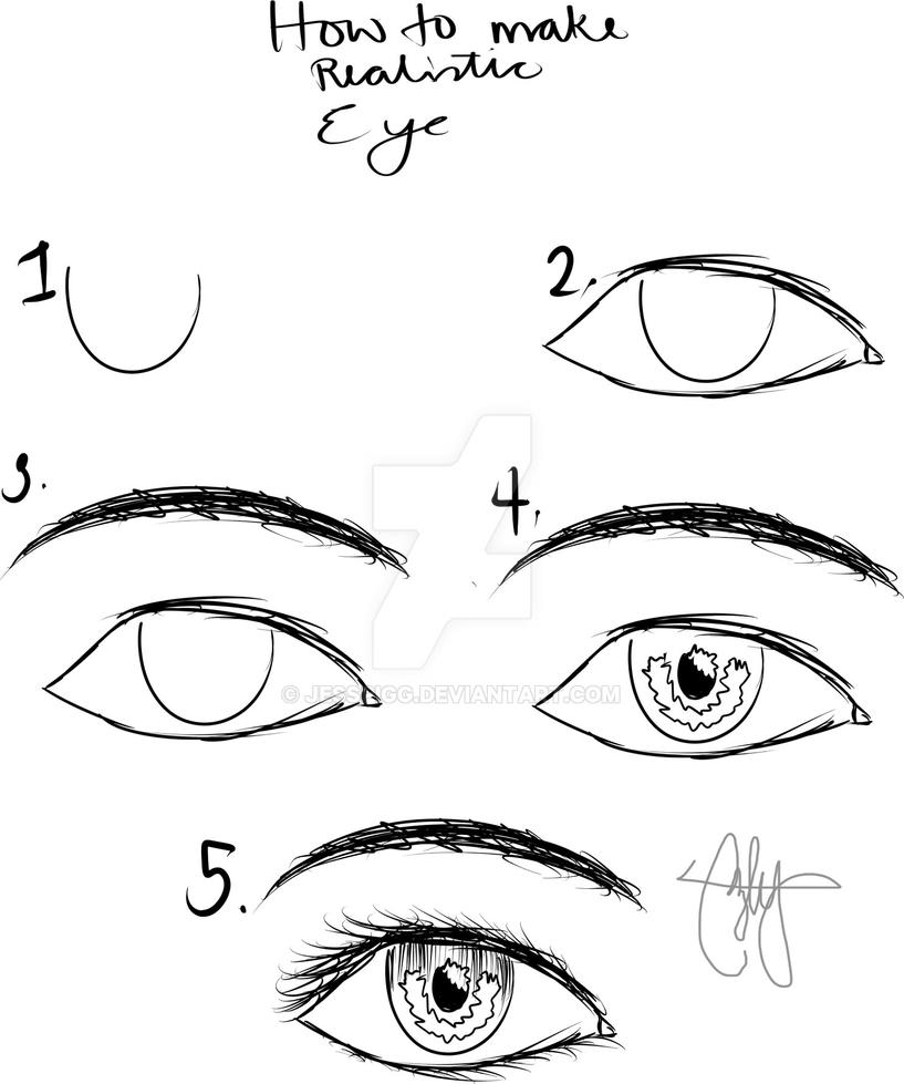 How to make realistic eye by jesspigg on deviantart for Easy blueprint maker