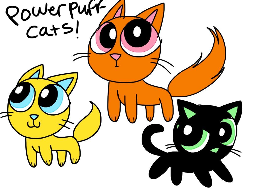 Powerpuff cats! by Kareena08 on DeviantArt