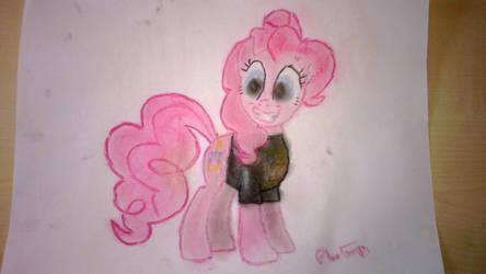 Pinkie Pie in a WBTBWB shirt