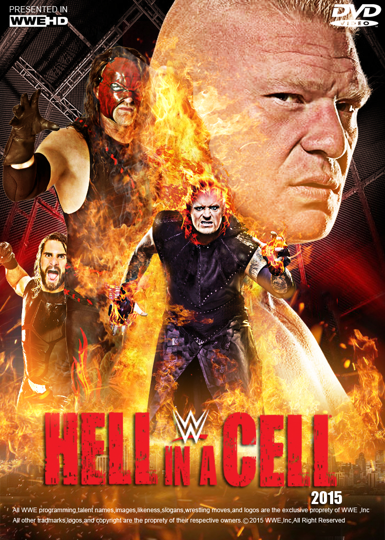 WWE Hell In A Cell 2015 Poster V 1 by edaba7