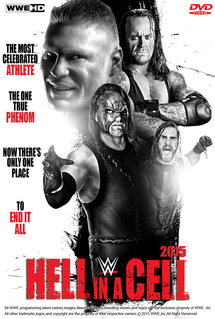 WWE Hell In A Cell 2015 Poster V 2 by edaba7