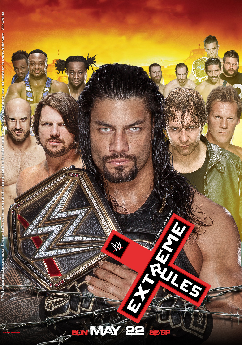 WWE Extreme Rules 2016 Poster by edaba7 on DeviantArt