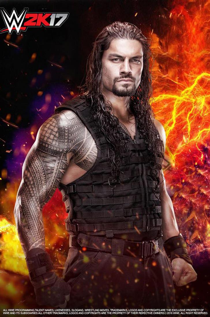 WWE Roman Reigns W2K17 Poster by edaba7 on DeviantArt