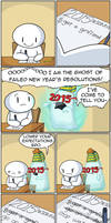 Ghost of Failed New Years Resolutions by theodd1soutcomic