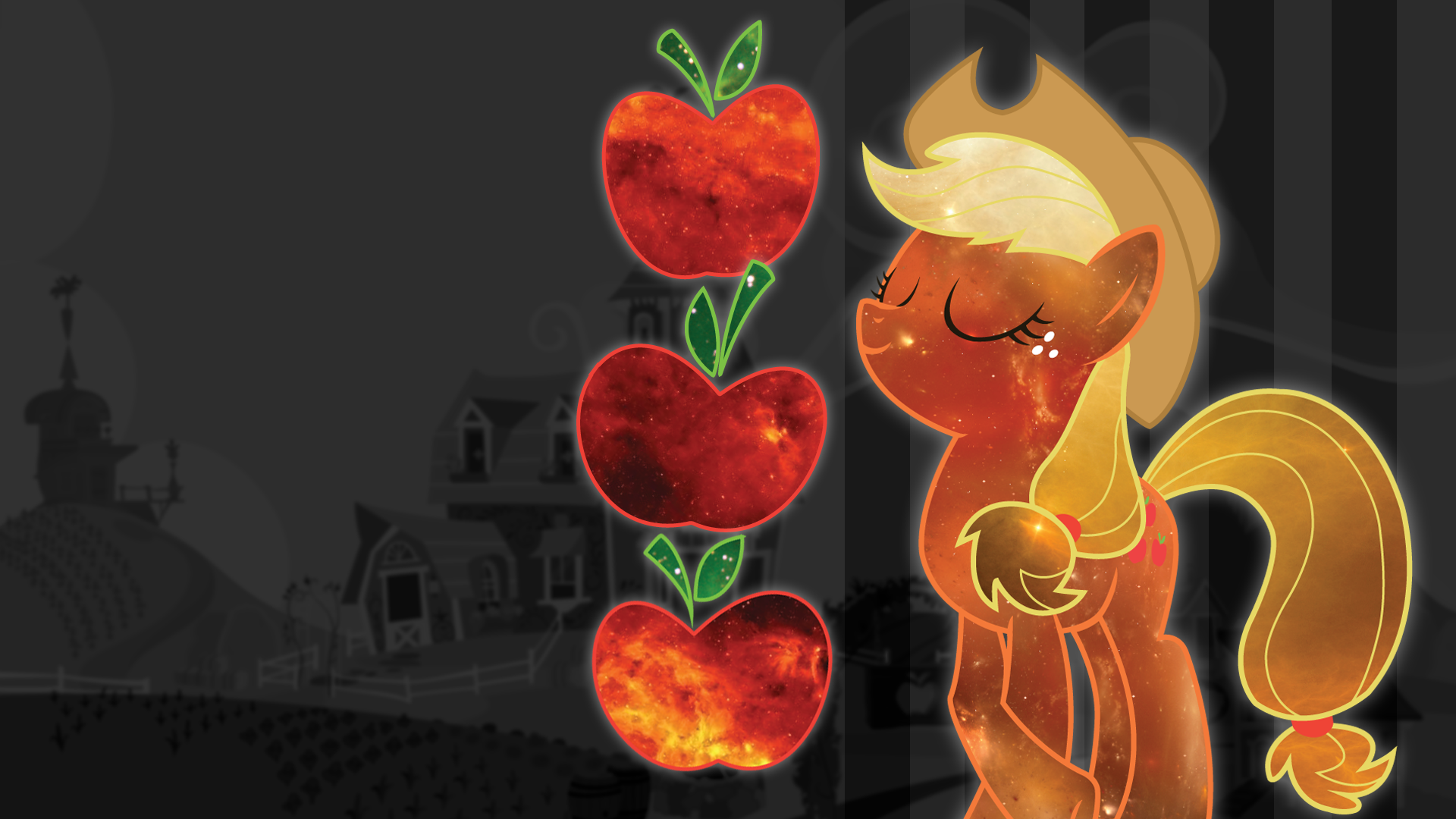 Astral Applejack Wallpaper by ChingyPants
