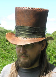 First leather tophat by JavanDrakar