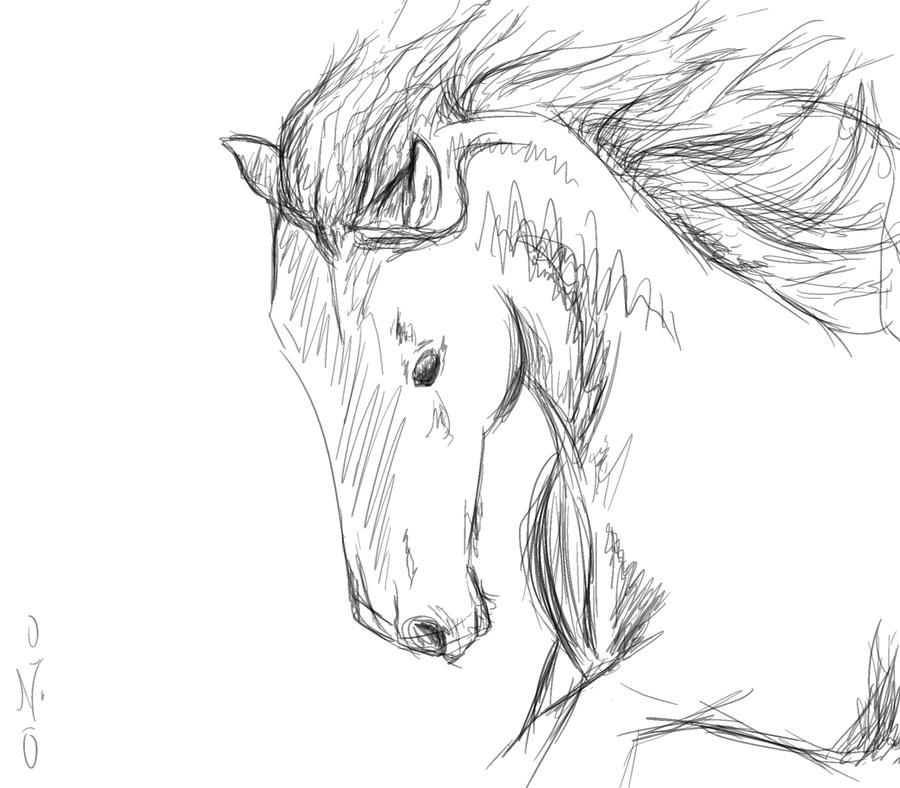 Horse Sketch Simple at PaintingValleycom  Explore