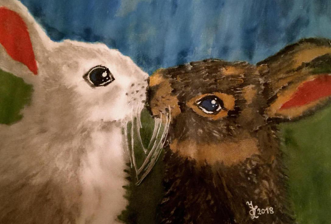 Bunnies by roseblood1313