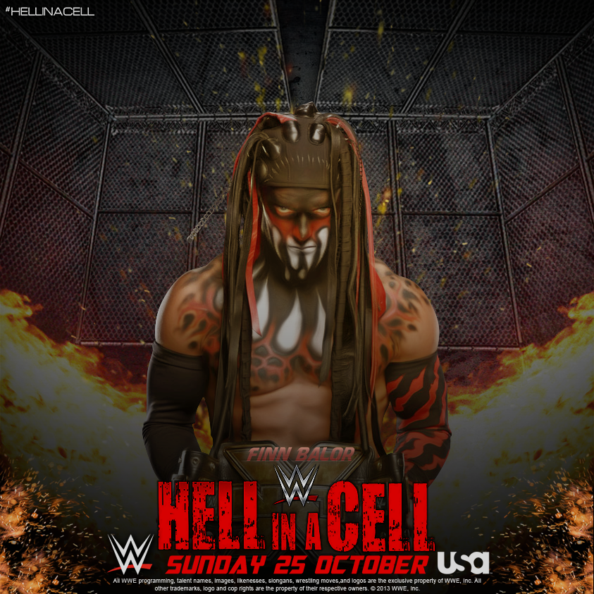 Hell in a Cell 2015 Poster Finn Balor by WWEMatchCard
