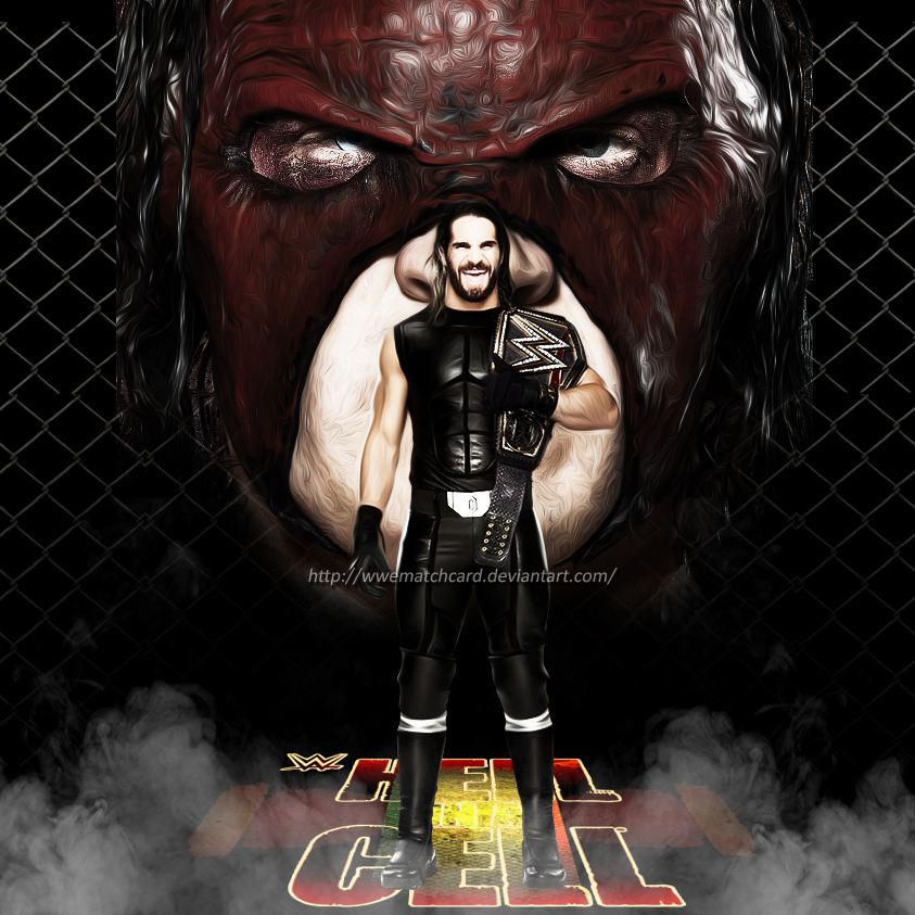 Hell in a Cell 2015 - Kane vs Seth Rollins Poster by WWEMatchCard