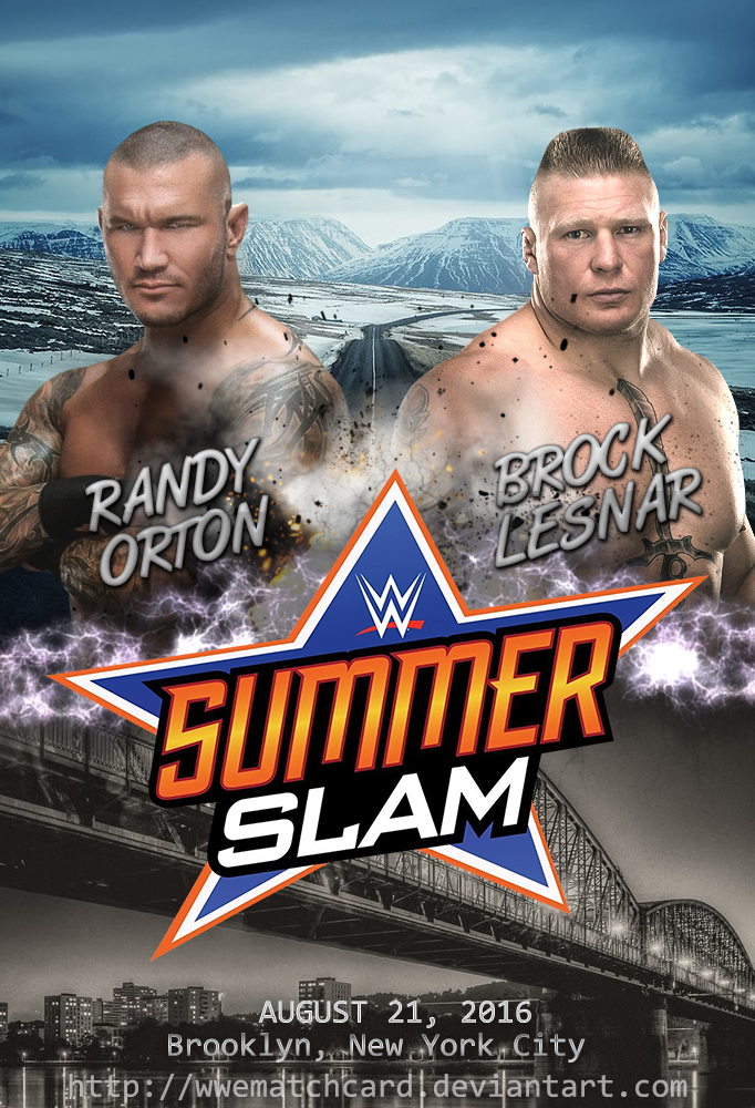 brock lesnar vs randy orton at summerslam 2016 by wwematchcard on