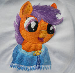 Scootaloo in the Cape