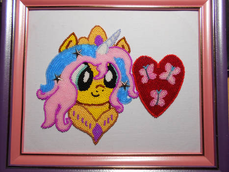 Fluttershy in the Role of Princess Celestia