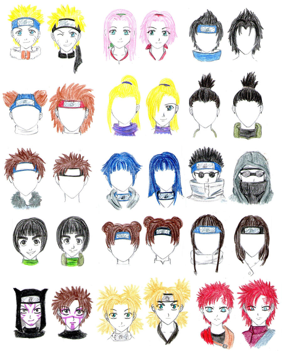 Naruto Characters :unfinished: by SuirenShinju on DeviantArt