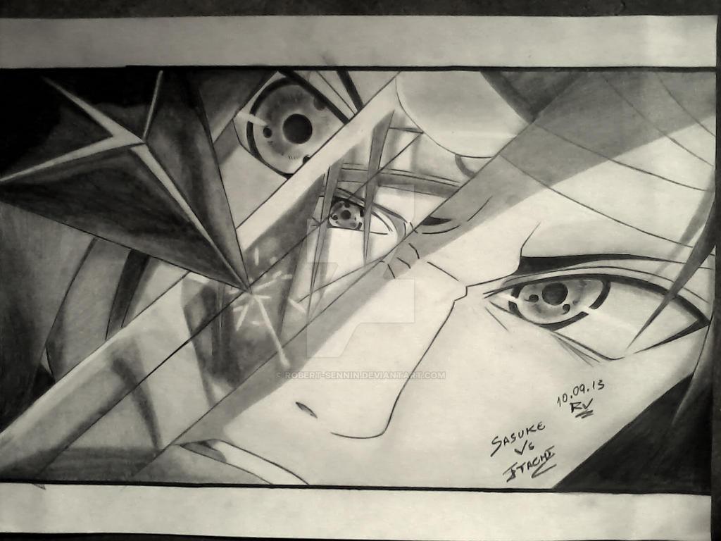 Uchihas / Sasuke Vs Itachi by Robert-Sennin