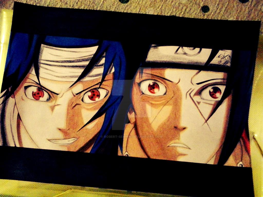 Sasuke Uchiha Vs Itachi Uchiha by Robert-Sennin