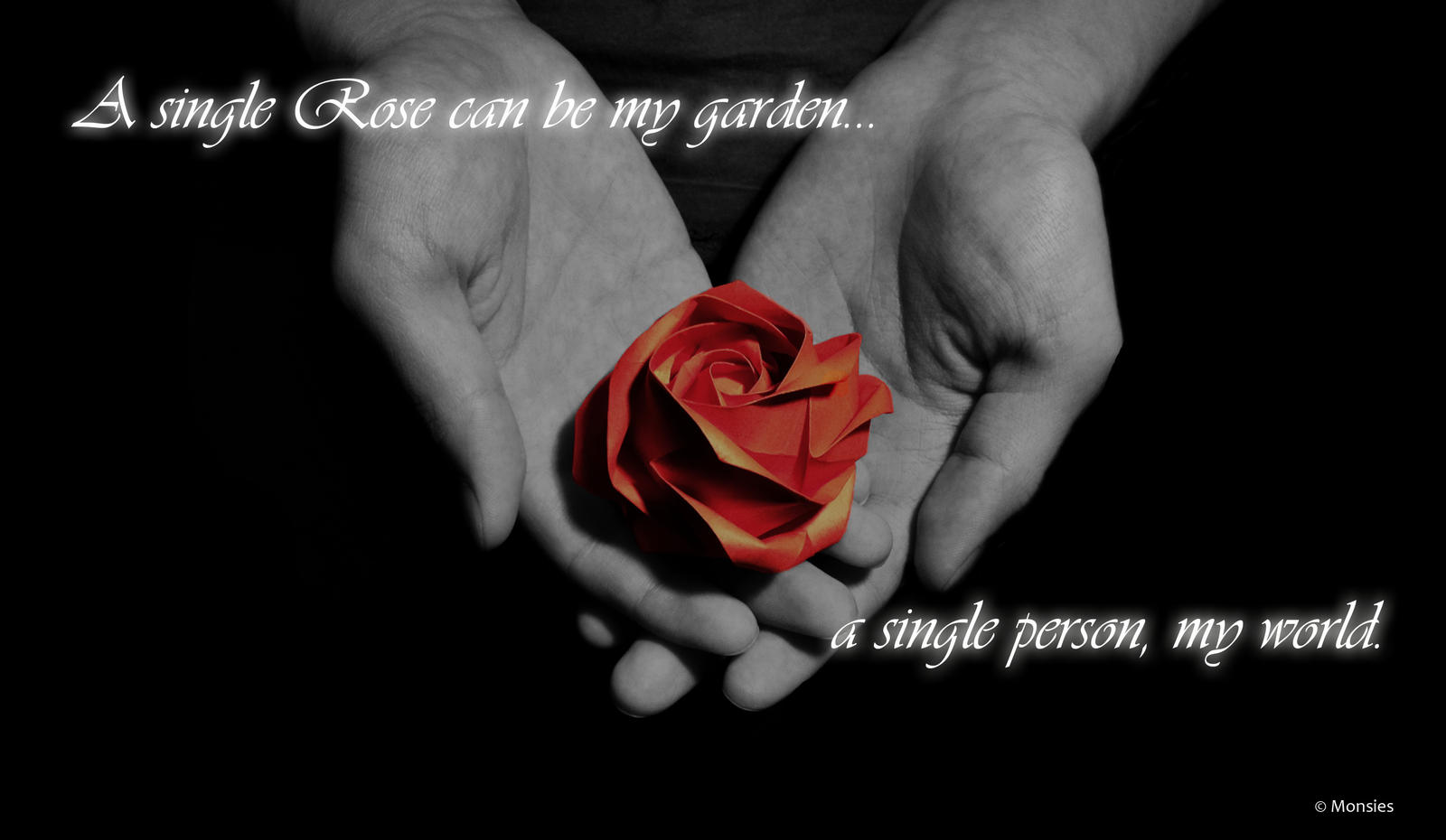 Quotes about roses and friendship beautiful flowers with origami one red rose by monsies izmirmasajfo Gallery
