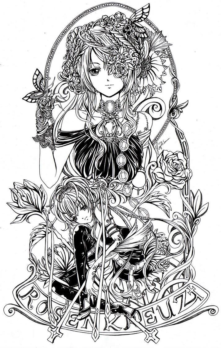 Rosen Kreuz by hayashinomura