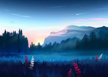 Landscape by byrotek
