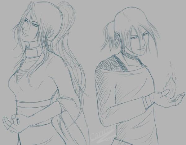 Caru and Kyrzo - Sketch by Caru-Ra