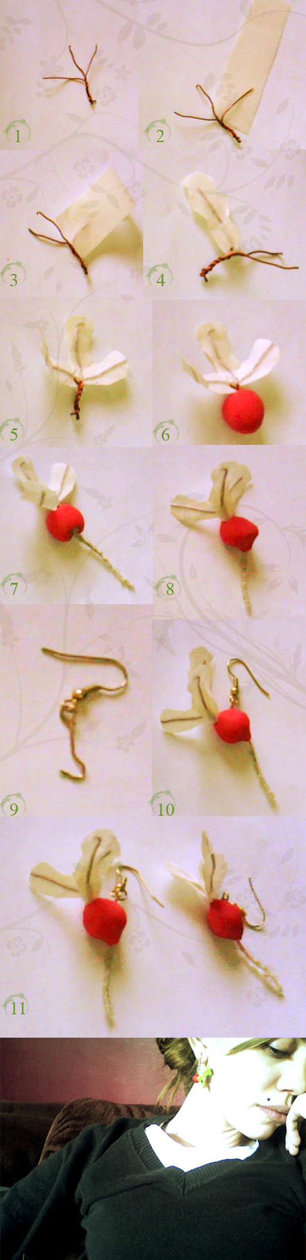 Radish Earrings by IrishWhistler