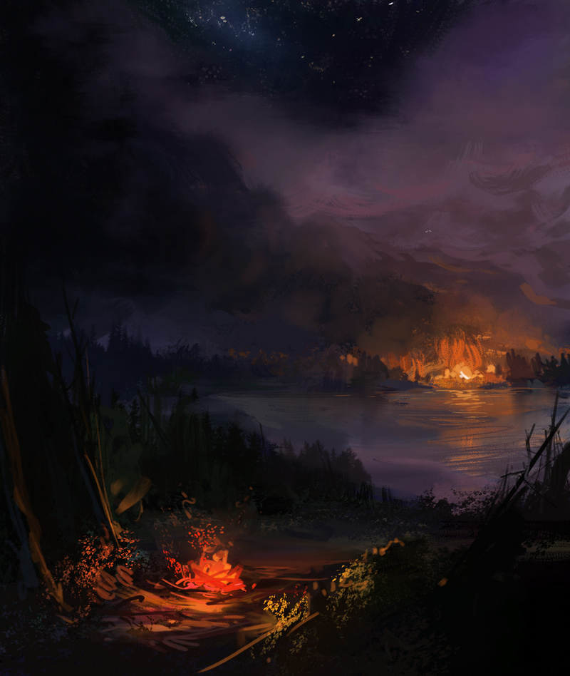 Forest fire warmup by JordyLakiere