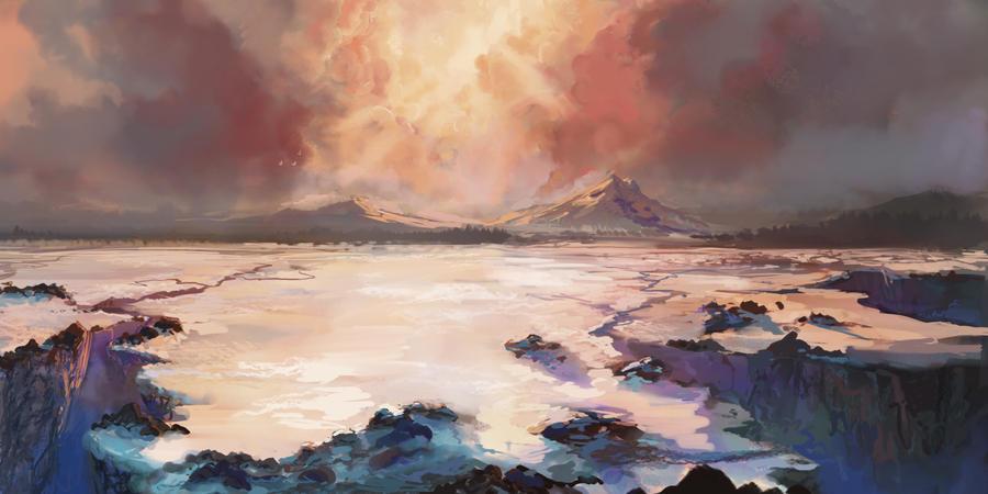 Snowy Landscape 2 by JordyLakiere